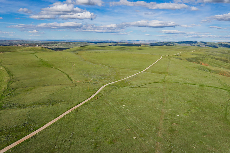 Dirt Road into Wyoming Distance