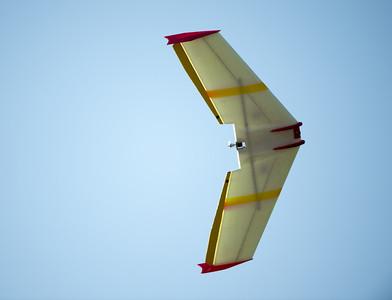 4-5 foot wingspan, 3 inch motor, 60-80 miles per hour