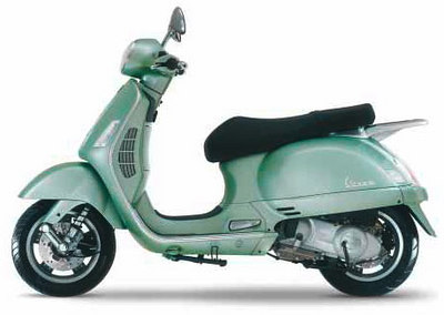 vespa.com  PRICE: $5,499  ENGINE: 198cc  MILEAGE/RANGE: 60 mpg/156 miles*  HIGHLIGHTS: A mix of 1950s looks and 21st century components, the Granturismo offers Roman Holiday romance without all the black oily smoke. The updated classic relies on a quiet four-stroke 198cc engine that can comfortably hit highway speeds.  WHEEL BASE: 54.9 in.  WHEEL SIZE: 12 in.  SEAT HEIGHT: 31.1 in.  ALSO CONSIDER: Piaggio BV200, Honda Reflex, Yamaha Vino 125, Vespa LX (150cc)  *Estimated mileage and range  DATA: Companies; BusinessWeek