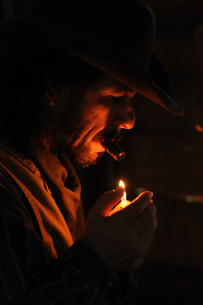 Cowboy Lighting Cigar
