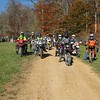 The gang getting ready to tackle the woods.  Deer Fields Ride Nov. 2008