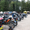 Stopped at Sipapu to check out the rally.  Cool bikes.  Capt rick was there with Elvis.  My dual sport looks pretty cool among the crowd of bikes.