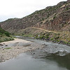Here is the road leading us down the gorge to the Don Dunn Bridge.  Oh, this is the Rio Grande.