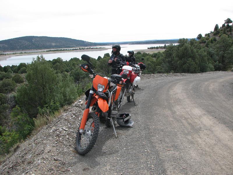 Here we are looking over El Vado Lake.