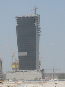 A building that gets bigger as it gets taller.