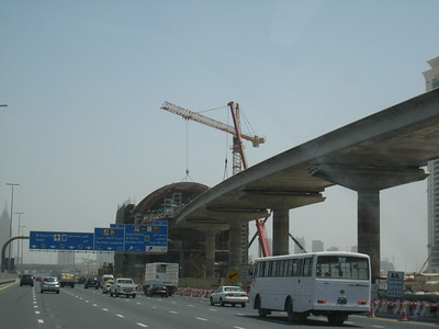 One of the new Metro stations under construction.