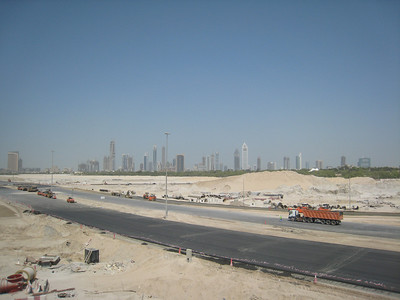 View from bridge near the start of Al Ain Rd near Za'abeel.