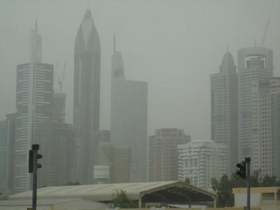 Through the sandstorm.