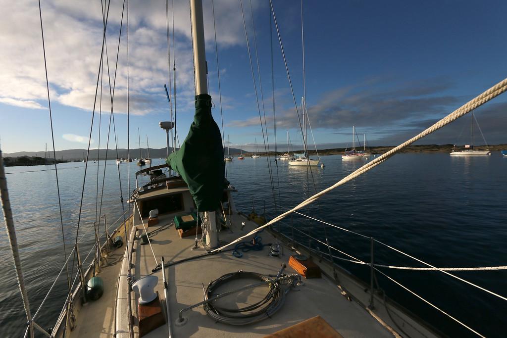 Riding at anchor