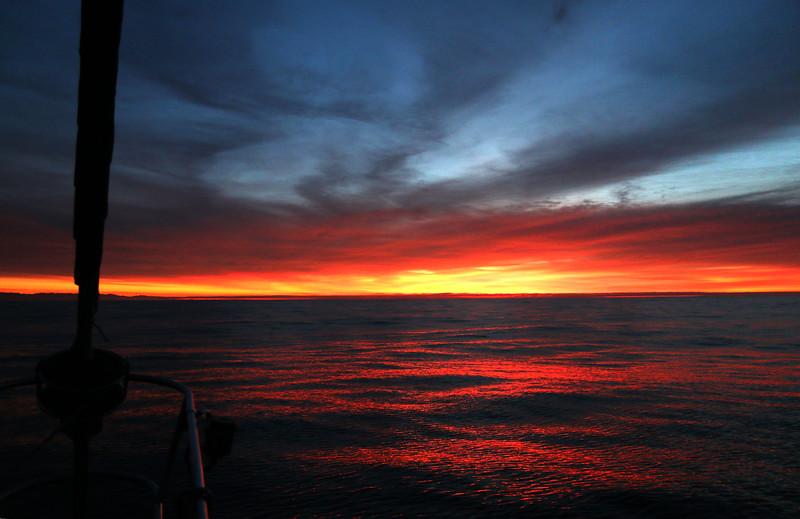 Sunrise off Guadalupe
