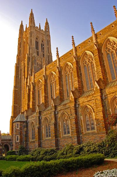 Early morning image of Duke Chapel.