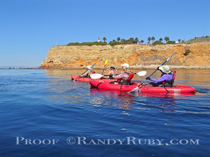 "Terranea Resort Kayaks Heading twords Point Vicent Lighthouse, Palos Verdes. Ca.      ""Sally & Friends""<br /> Taken: 10/15/13"