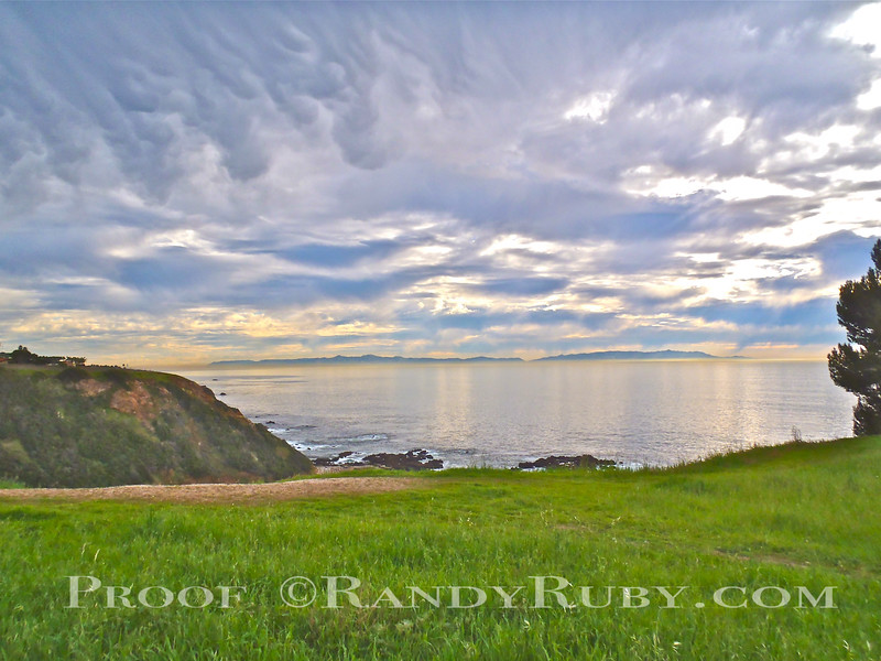 View of Catalina Island from the Palos Verdes Meadow.~<br /> Taken: 1-6-11