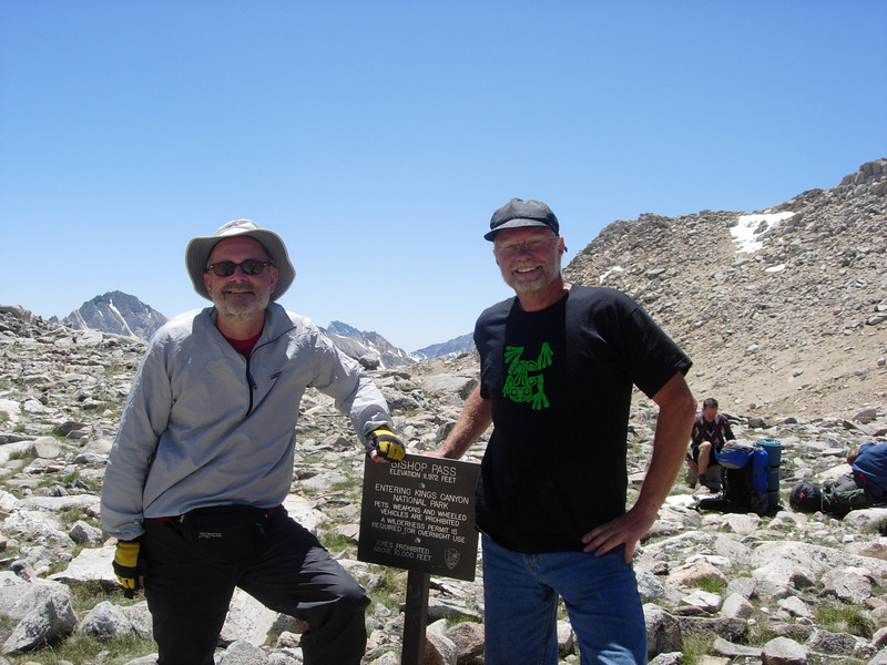 We enjoy a break at the pass before heading down into Dusy Basin, our base camp for the next three nights.