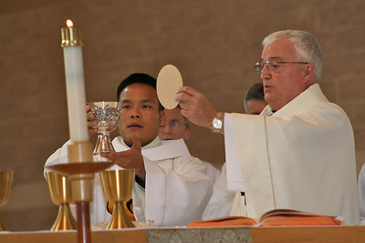 Dn. Duy and the bishop.