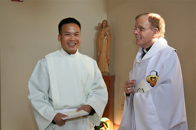 Dn. Duy and Fr. Bob Tucker.