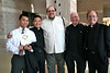 Dn. Duy (second from left) poses with friends and SCJs before the ordination.