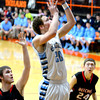 THIRD TEAM<br /> Levi Maxey<br /> St. Elmo/Brownstown<br /> Senior guard<br /> 2013-2014 STATISTICS <br /> 16.5 ppg, 5.7 rpg, 3.5 spg, scored 1,000th career point <br /> AWARDS/HONORS <br /> All-St. Elmo Holiday Tournament first team, All-NTC Tournament, All-NTC first team, All-Vandalia Tournament