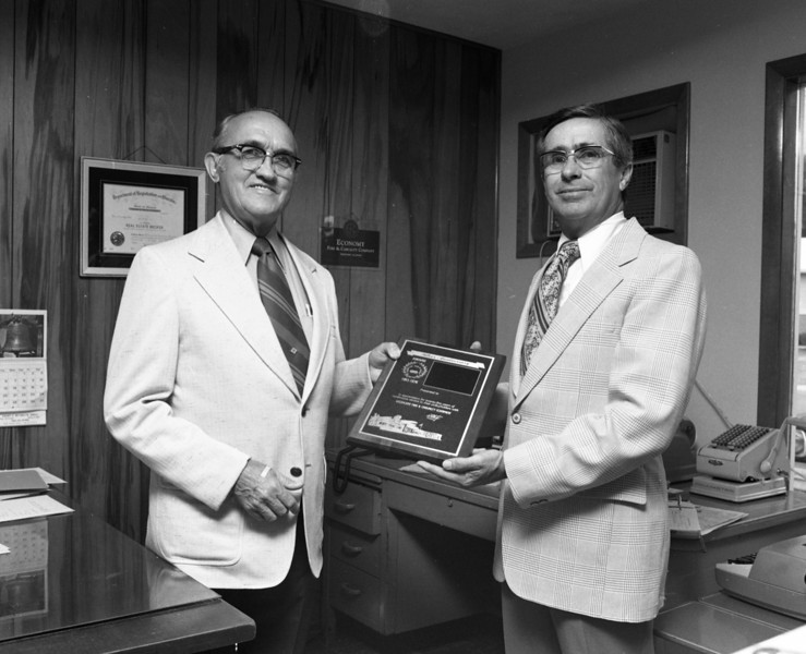 Evrn Valish and J. Lowell Marvin, Special Agent for Economy Fire & Casualty Company