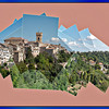 RECANATI -THIS IS CALLED A PANOLLAGE, A COLLAGE AND PANORAMA MIXED TOGETHER-