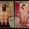 2 Botero pics on the bathrooms in Magazzino, where we ate lunch on Livorno Photowalk