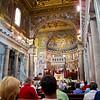 Maria Paola took us to her parish, the Chiesa di Santa Maria  Trastevere.