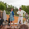"""Daughter in law, Tatiana, with her father in law (the """"sposo"""", groom- ie., of the 40 year old anniversary), dancing on the table!"""