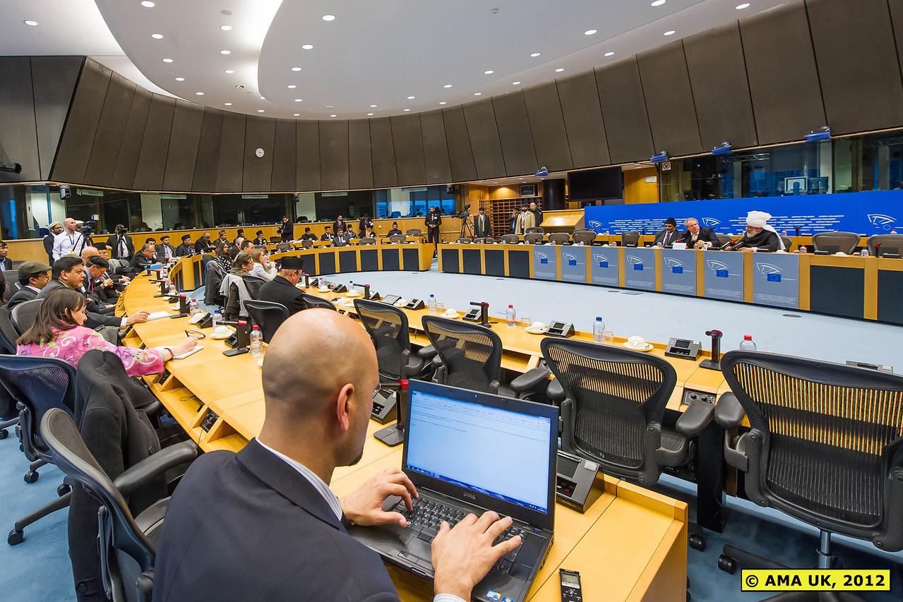 EU3_0128:  Press Conference at the European Parliament.