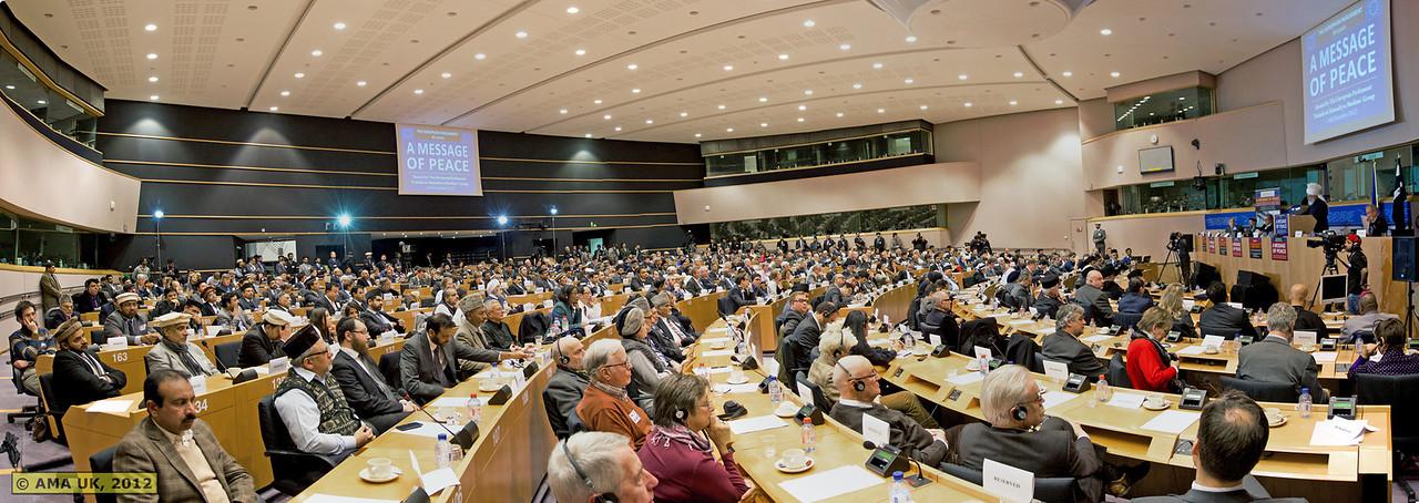 EU Panoramic: View of the room where speeches were held