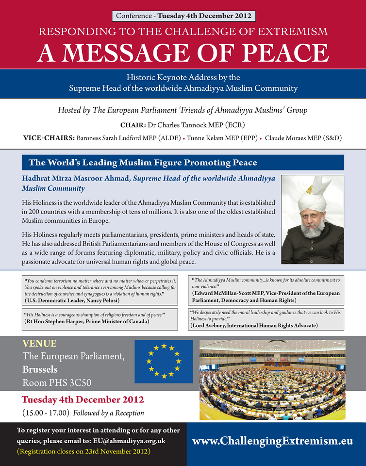 The above advert for this historic event was featured in two editions of European Parliament magazine.