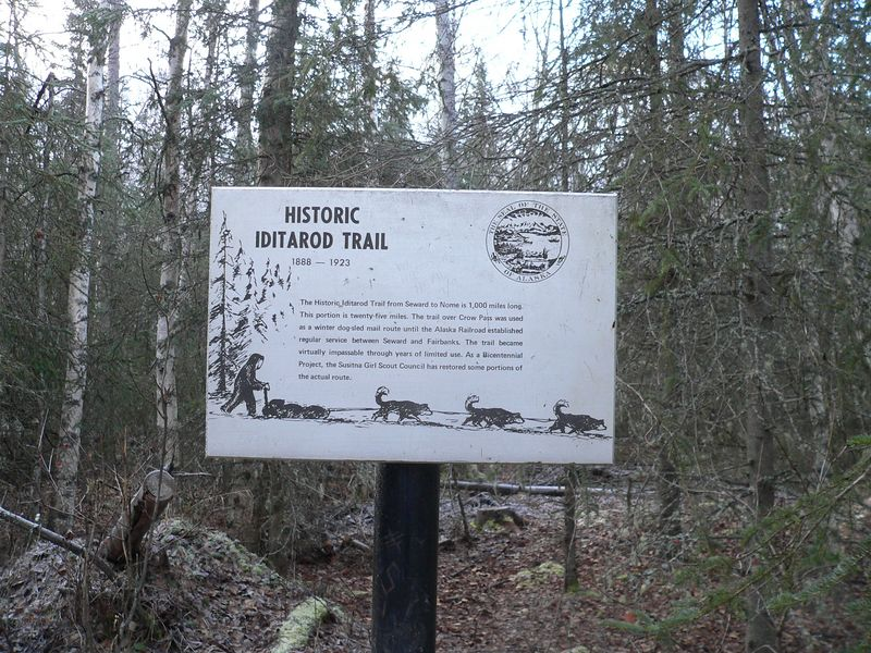 A portion of the former Iditarod Trail