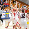 Don Knight / The Herald Bulletin<br /> Frankton's Ryann Shively passes the ball as the Eagles faced Wapahani in sectional action at Shenandoah High School on Tuesday.