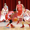 Don Knight / The Herald Bulletin<br /> Frankton's Aaron Korn steals the ball away from Mississinewa's Jay Butler on Friday.