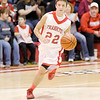 Don Knight / The Herald Bulletin<br /> Frankton senior Zach Stephenson drives toward the basket as the Eagles hosted the Sheridan Blackhawks for senior night on Friday.