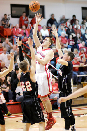Don Knight / The Herald Bulletin<br /> Frankton hosted Sheridan on Friday.