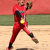 Photo by Chris Martin<br /> Frankton's Kyleigh Garner pitches against Alexandria in a County Tournament win Wednesday.