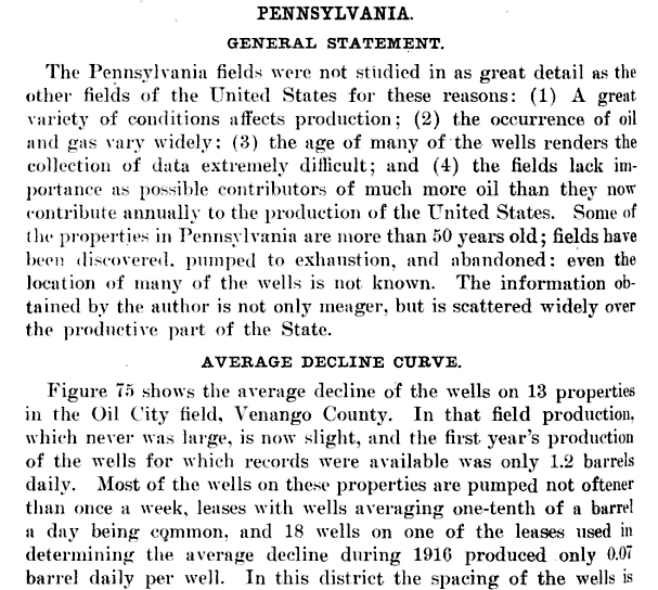 The decline and ultimate production of oil wells,Govt. print. off., 1919 - 213 pages,G.P.O., 1921 - 245 pages, Page 188: http://books.google.com/books?id=rn0ZAAAAYAAJ&dq=sullivan%20County%2C%20pennsylvania%2C%20oil%20and%20gas&pg=PA188#v=onepage&q&f=false