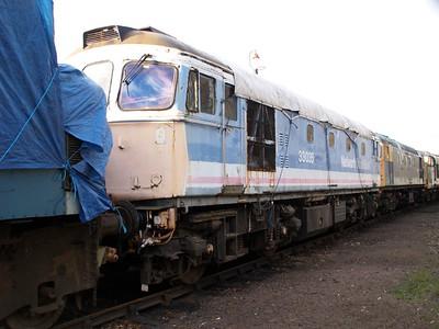 Class 33_33035 seen at Barrow Hill    22/11/08