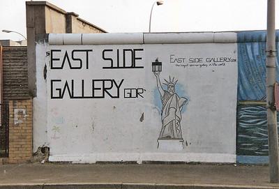 East Side Gallery, East Berlin,  September 1990 1 SM