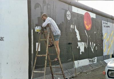 East Side Gallery, East Berlin,  September  1990 2 SM