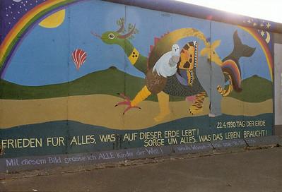 East Side Gallery, East Berlin,  September 1990 13 SM