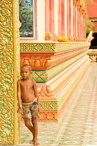 Orphan Boy at Temple
