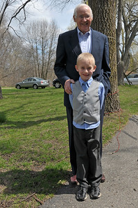 Alan and Great Grandpa are looking sharp!