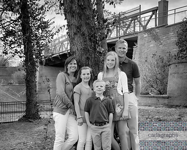 Fam Standing in Front of Tree bw (1 of 1)