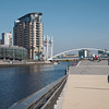 View from near the new footbridge between IWM and Media City
