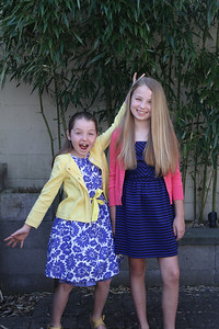 Easter 2014   Lily 11, Marin 8