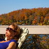 Andrea enjoying the fall sun