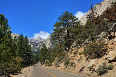 Whitney Portal Road. Mt. Whitney in background.