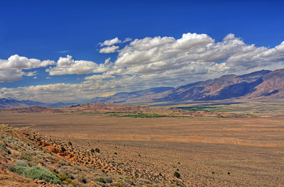 Looking north over the Owens Valley towards Lone Pine