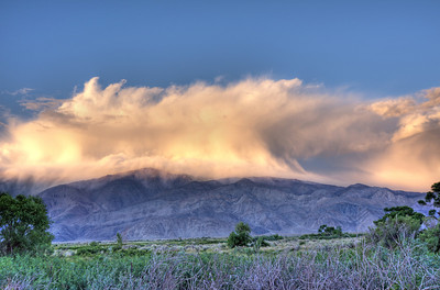 A little weather over the White Mtns outside of Lone Pine.